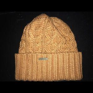 Michael Kors brown knit beanie winter hat